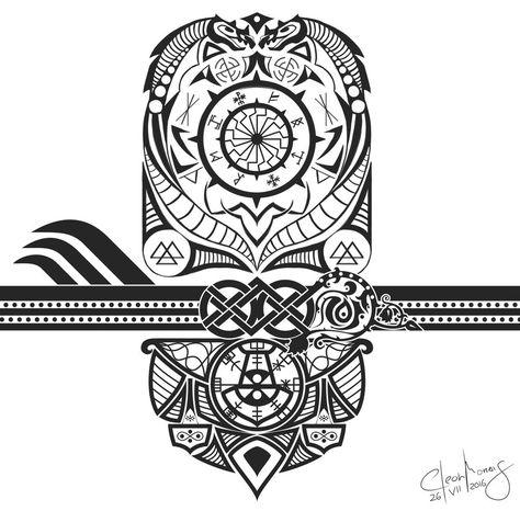 Tattoo, Nordic Runes in Black/White #cleonmorais #artwork.