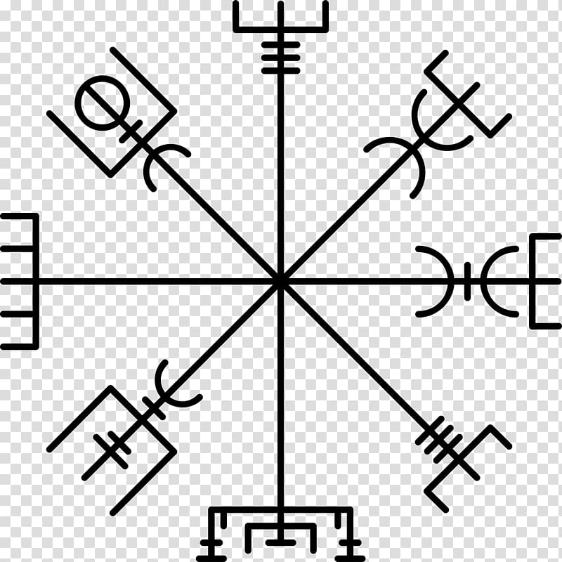 Vegvísir Icelandic magical staves Runes Helm of Awe.