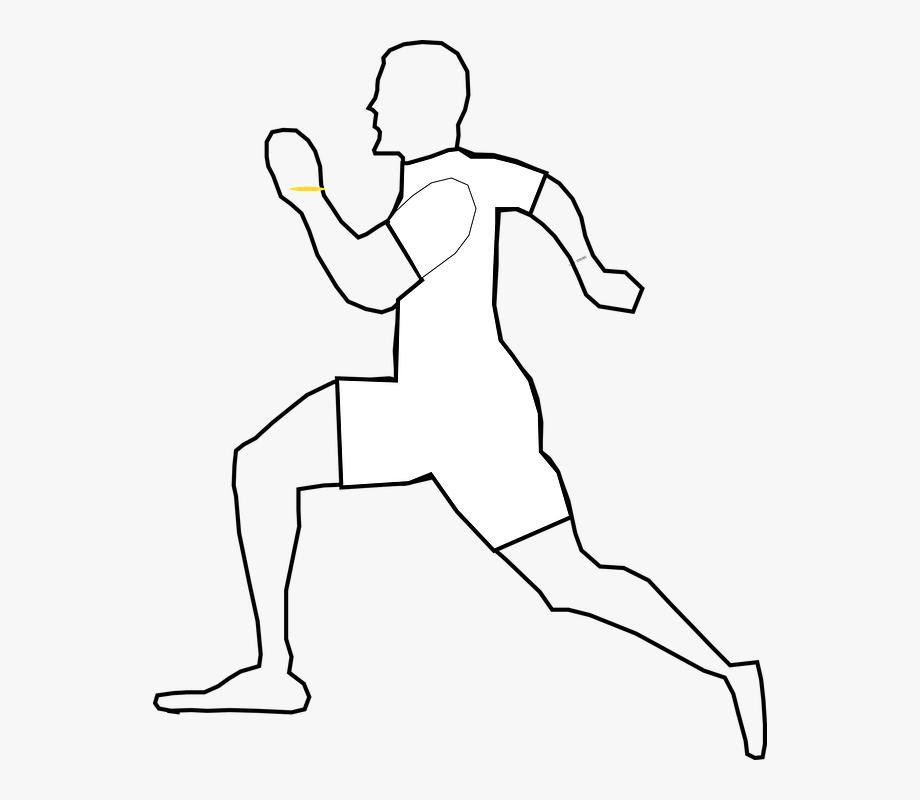 Man Runner White Running Triathlon.