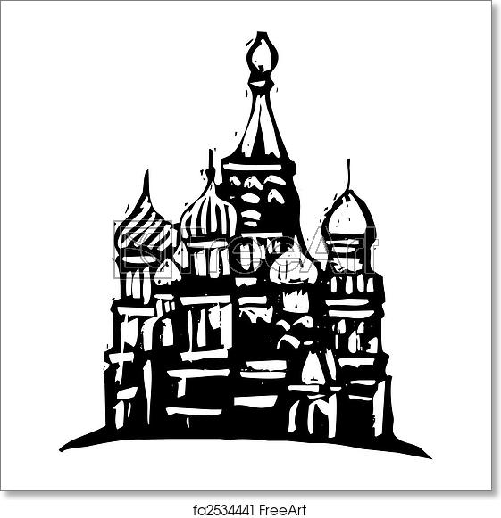 Free art print of Kremlin Russia.