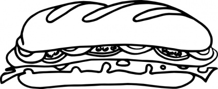 Free Sandwich Clipart Black And White, Download Free Clip.