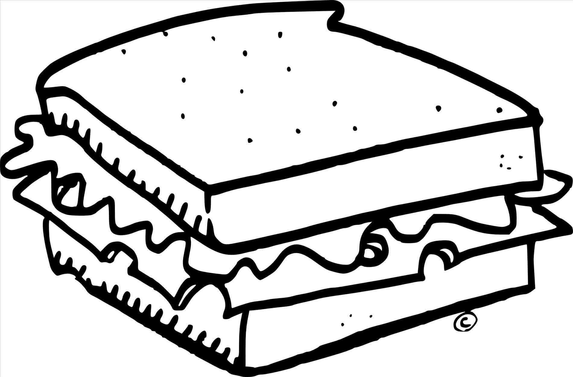 Colorable Ice Cream Sandwich Clipart Black And White.