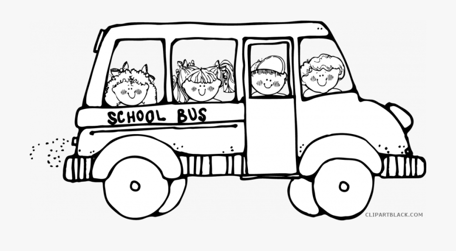 Bus Drawing Black And White.