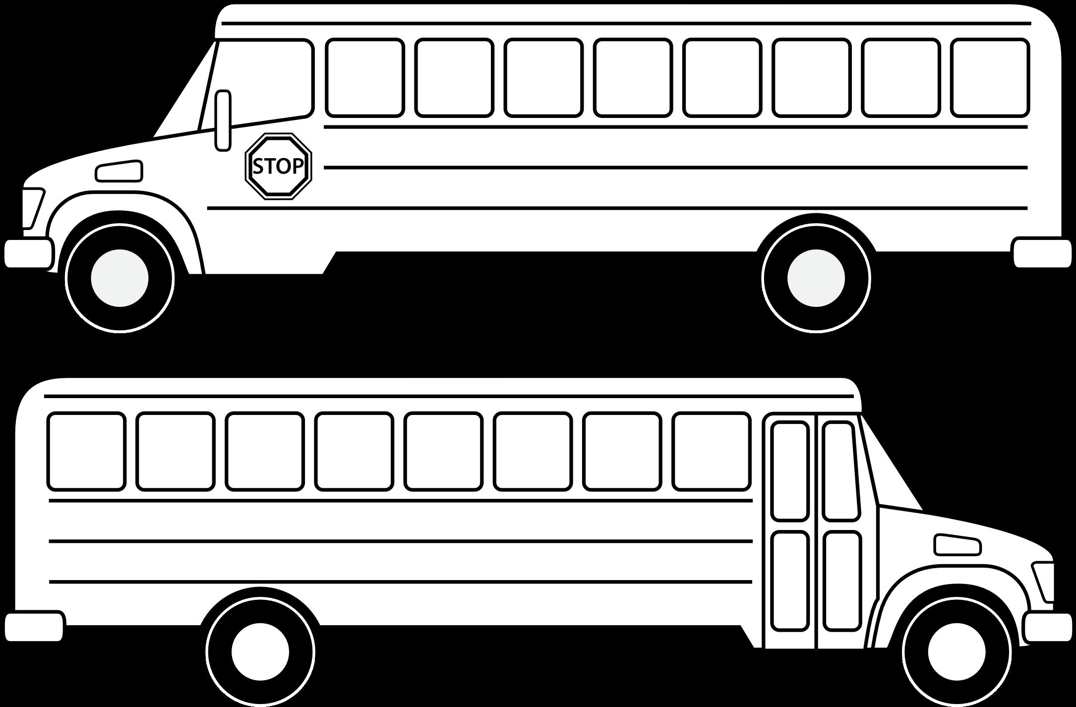 School Bus Black And White School Bus Clip Art Black.