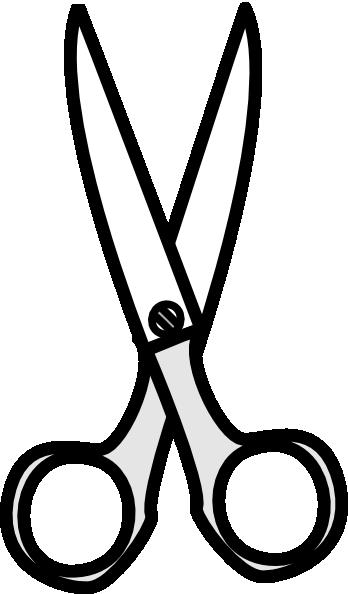 Black And White Scissors Clipart.