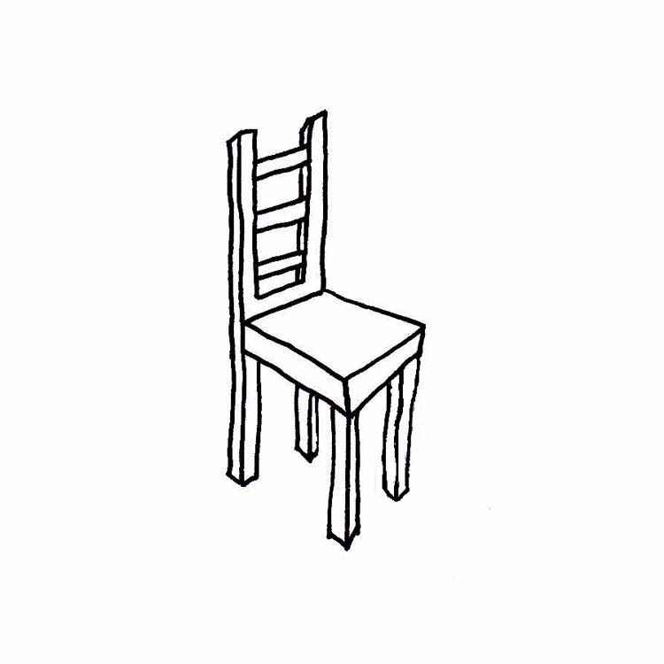 School Chair Clipart Black And White.