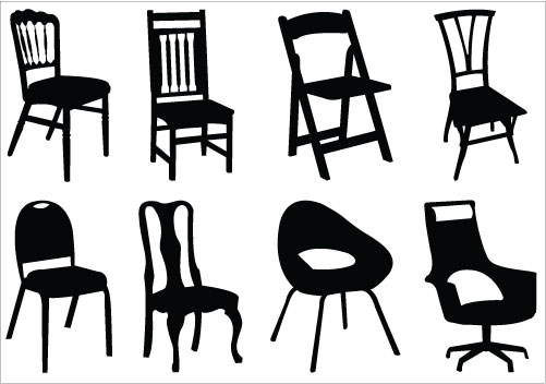 Furniture Clipart Black And White.
