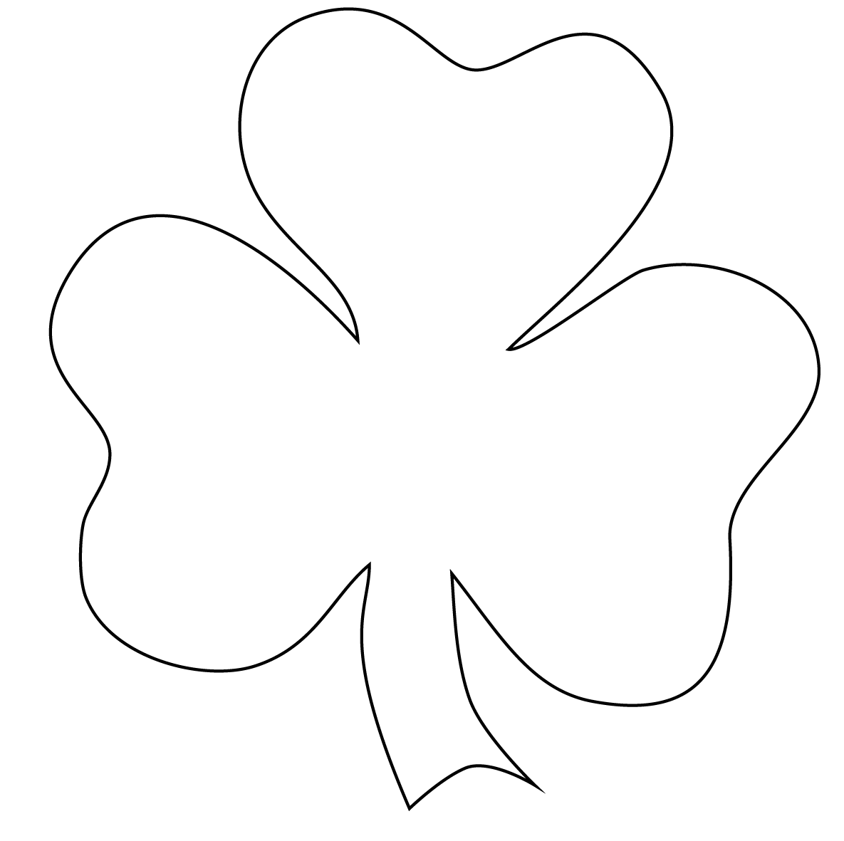 Free Outline Of Shamrock, Download Free Clip Art, Free Clip.