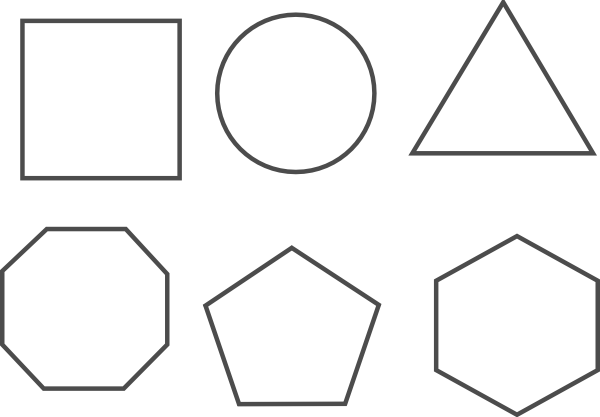 Shapes Clipart Black And White.