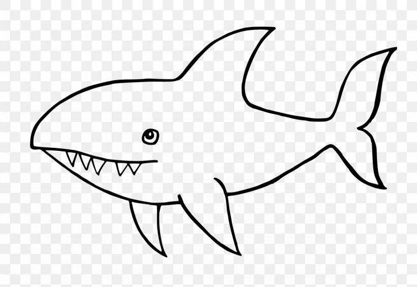 Requiem Sharks Black And White Drawing Tiger Shark Clip Art.
