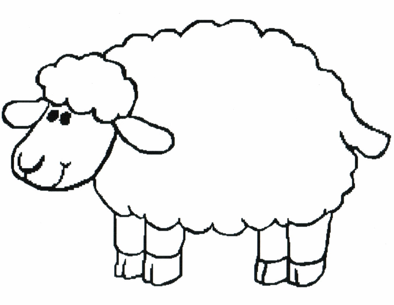 Sheep clipart black and white Unique Sheep black and white.