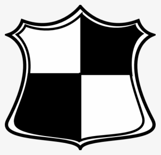 Free Shield Black And White Clip Art with No Background.