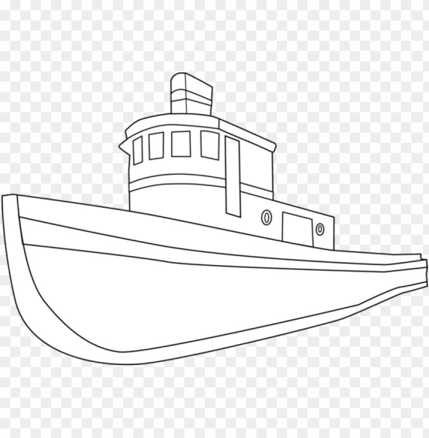 drawn boat cartoon.