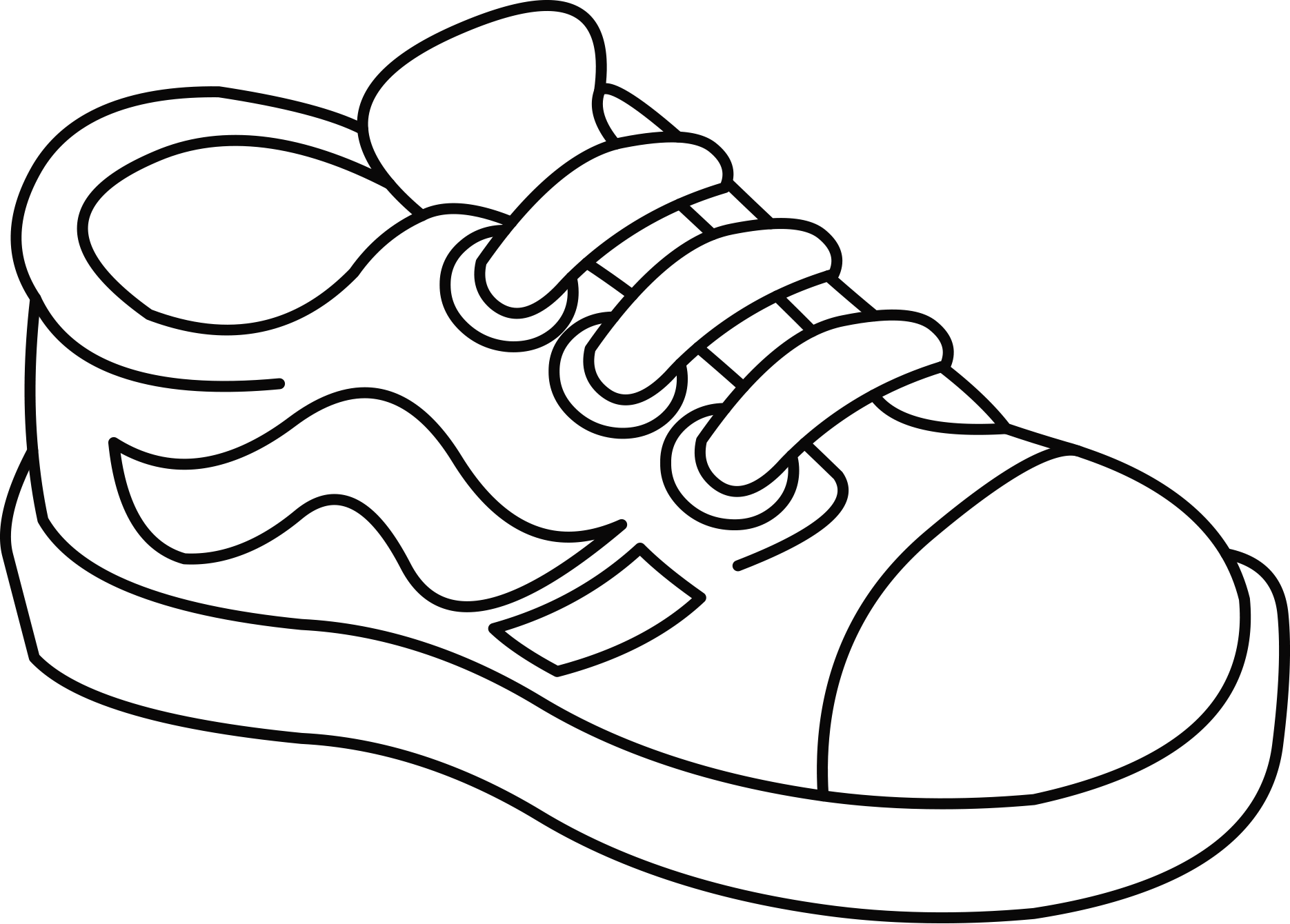 Sneakers Clipart Colour.