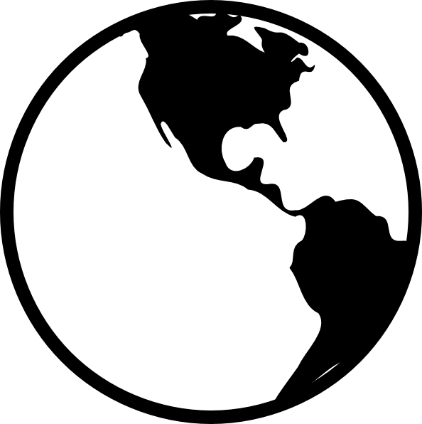 Simple Black And White Earth Clip Art at Clker.com.
