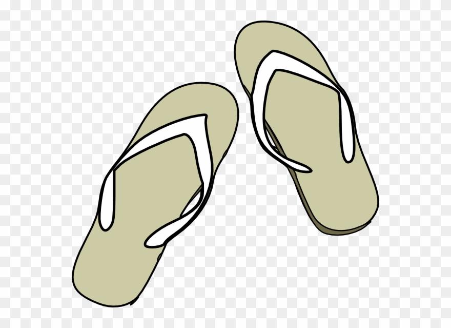 Flip Flops Black White Clip Art.
