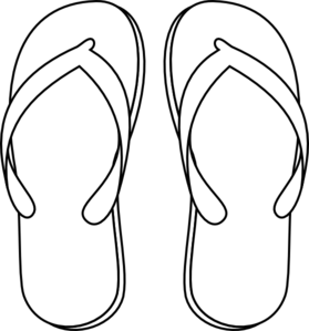 Free Slippers Clipart Black And White, Download Free Clip.