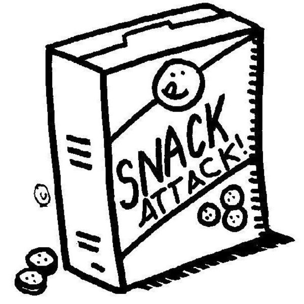 Snacks Clipart Black And White.