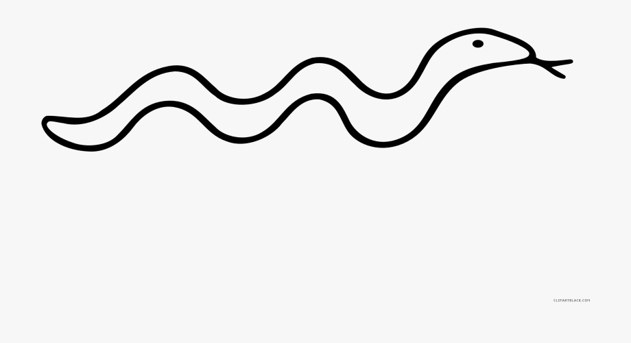 Transparent Black Snake Png.