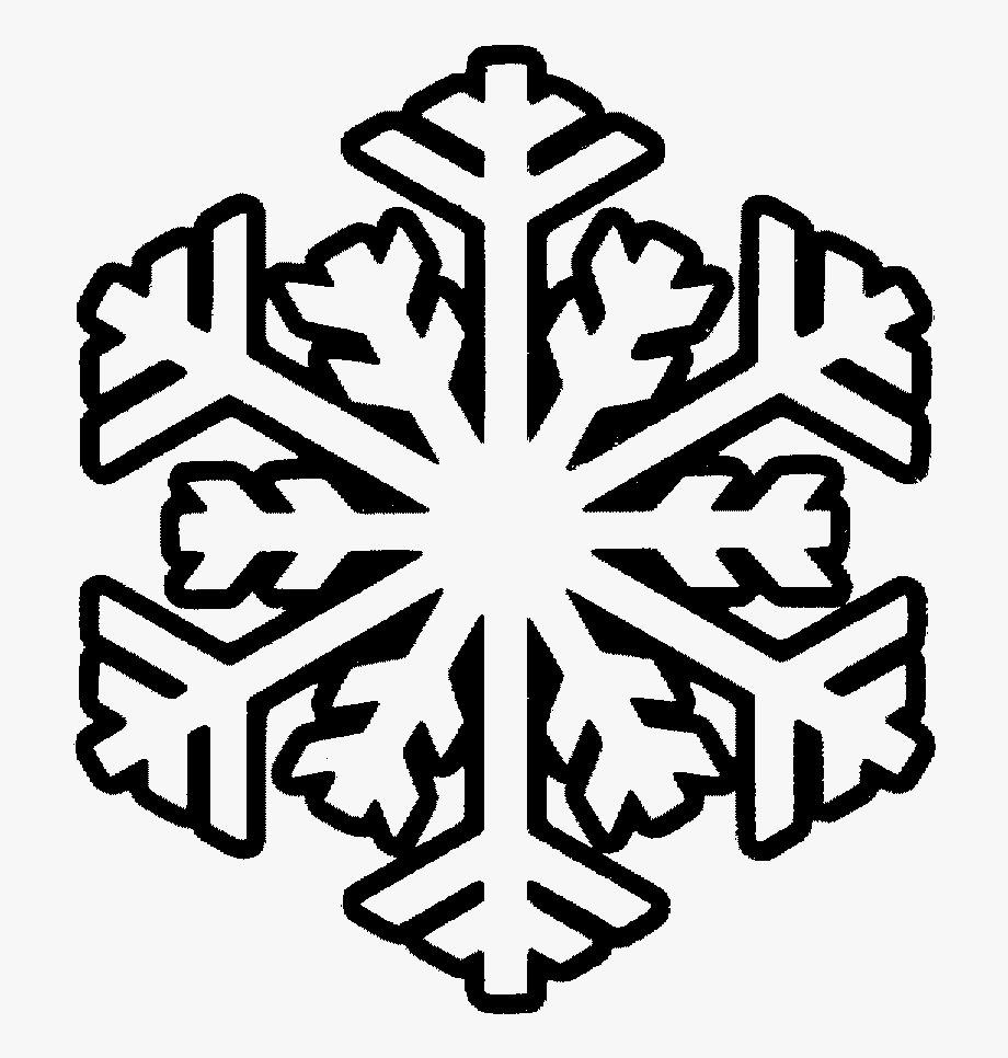 Cute Snowflake Clipart Black And White.