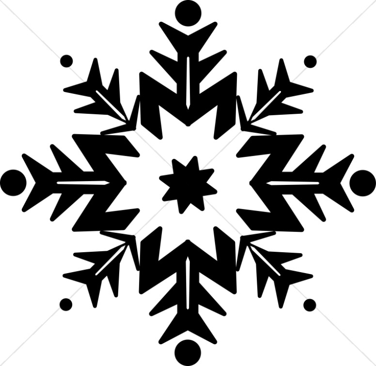 Black And White Clipart Snowflake.