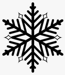 Free Snowflakes Black And White Clip Art with No Background.