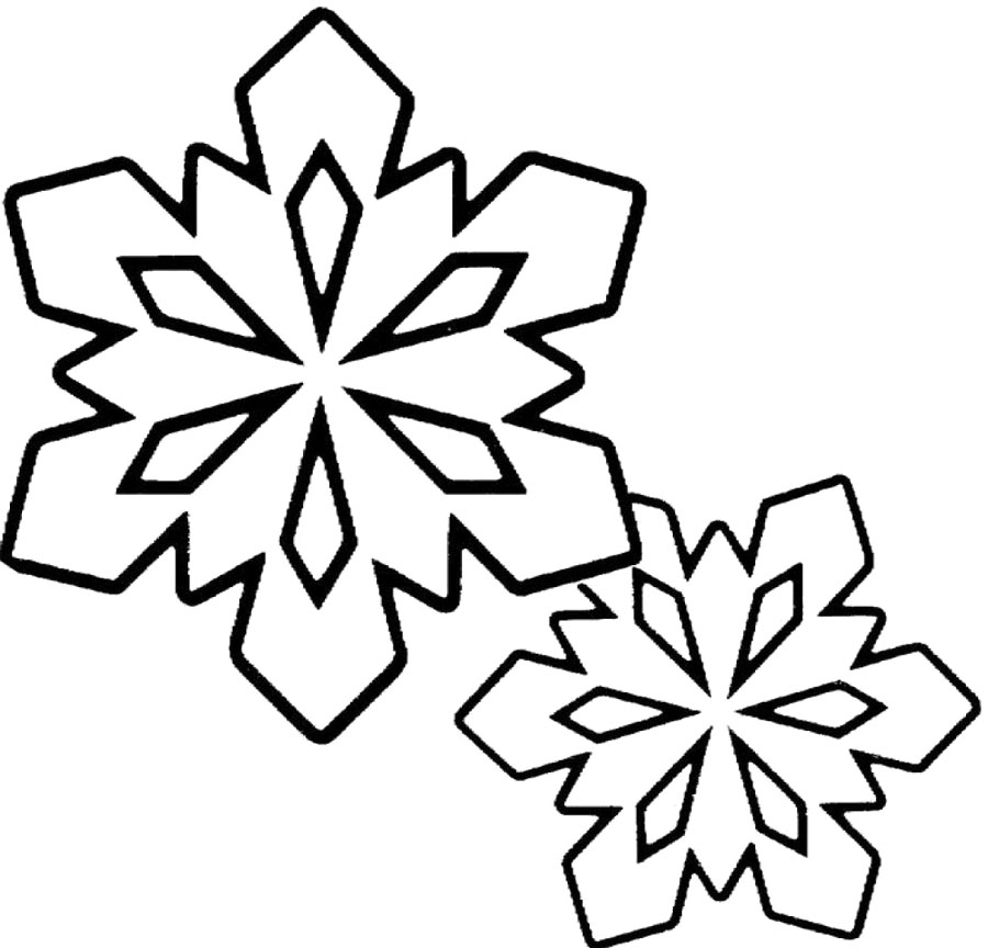 Free Black And White Snowflake Clipart, Download Free Clip.