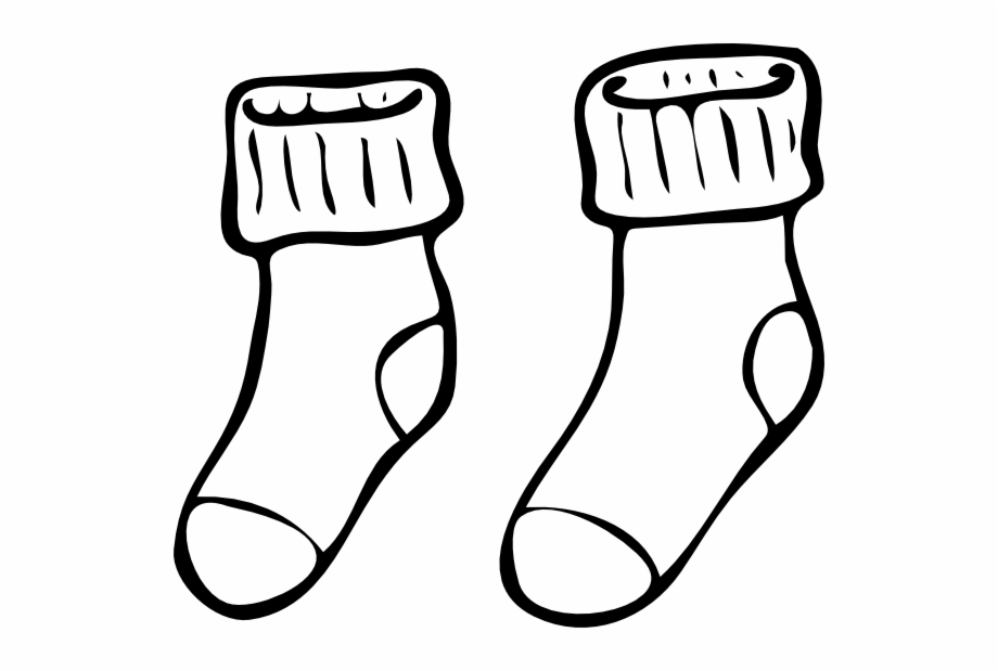Free Sock Clipart Black And White, Download Free Clip Art.