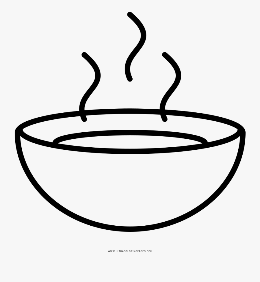 Soup Bowl Coloring Page Clipart , Png Download.