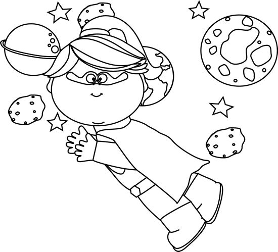 Free Black And White Space Clipart, Download Free Clip Art.