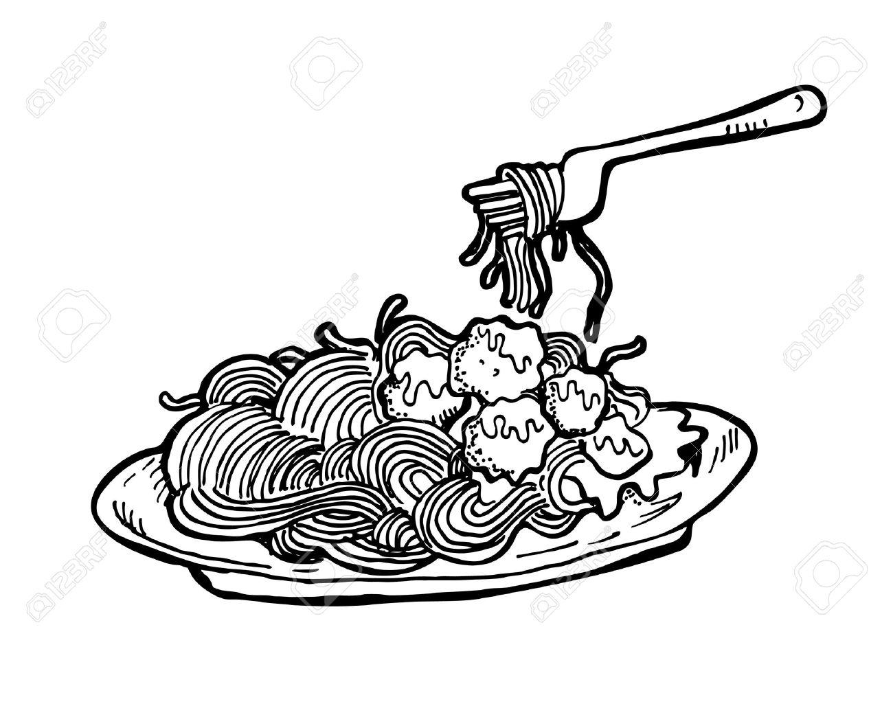 Spaghetti clipart black and white 9 » Clipart Station.