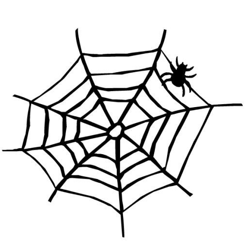 Halloween Spider Web Clipart Black And White.