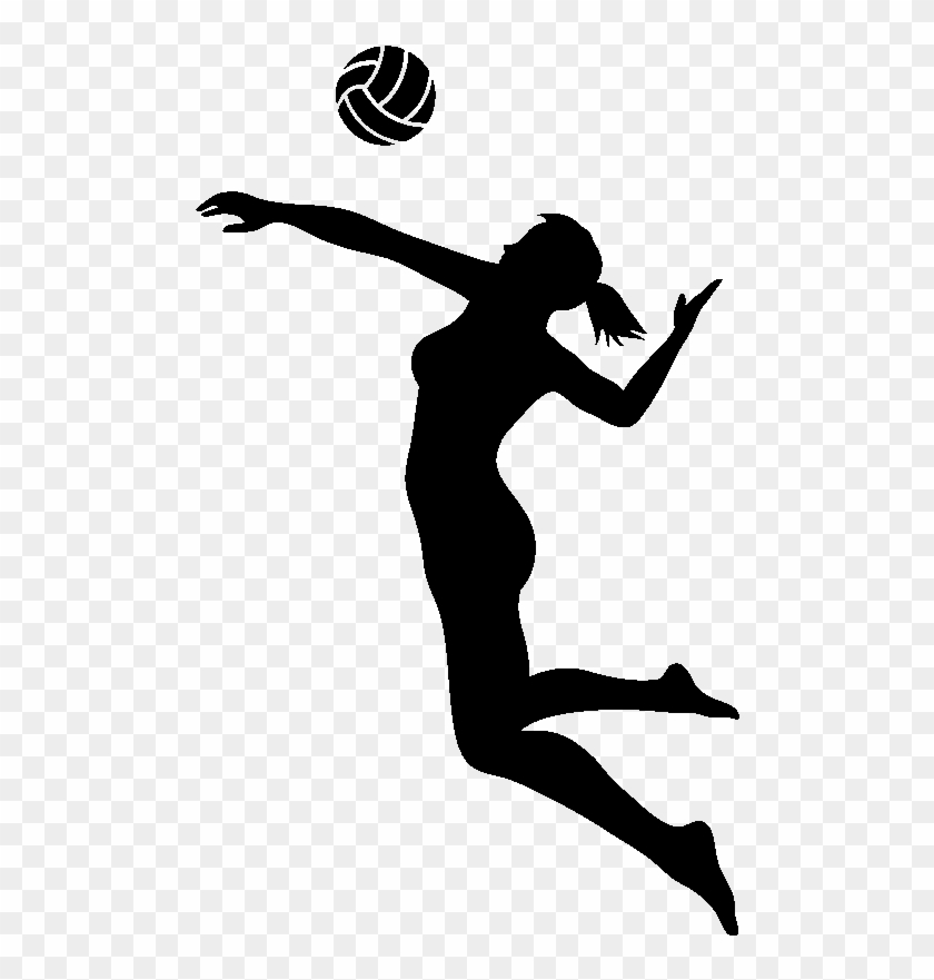 Volleyball Spike Png Black And White & Free Volleyball Spike.