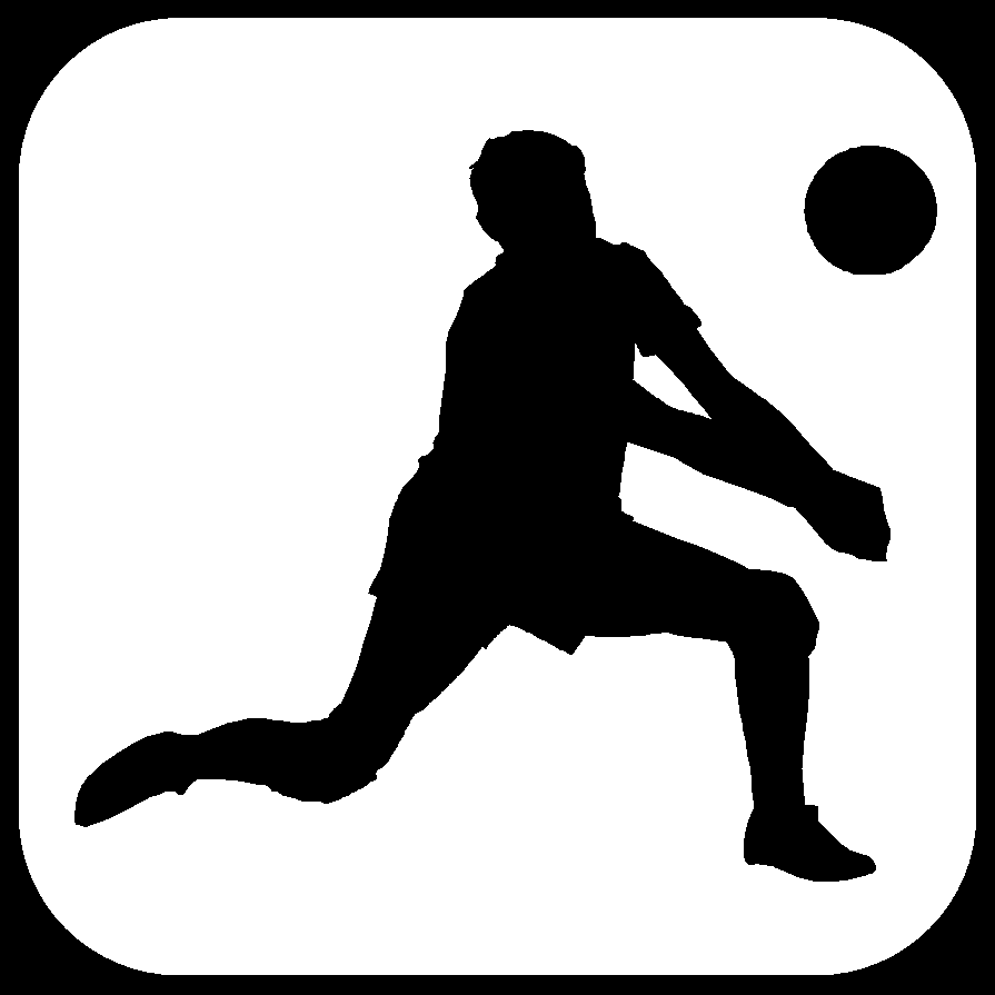 Volleyball spike clipart black and white.