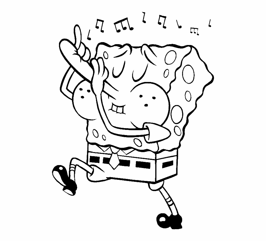 Free Spongebob Black And White Pictures, Download Free Clip.