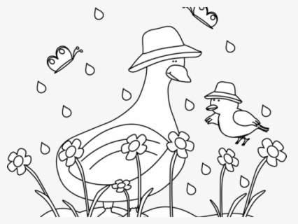 Free Spring Black And White Clip Art with No Background.