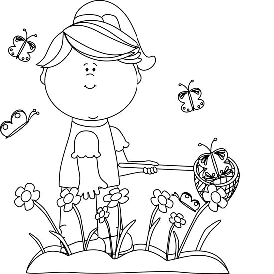 11 Spring Black And White free clipart.