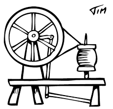 Image result for coloring book pages spinning wheel.