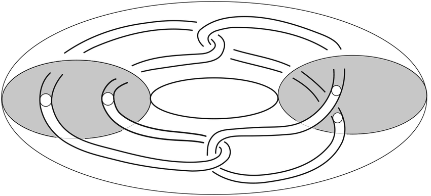 Bing double of the core of a solid torus. The spun version.
