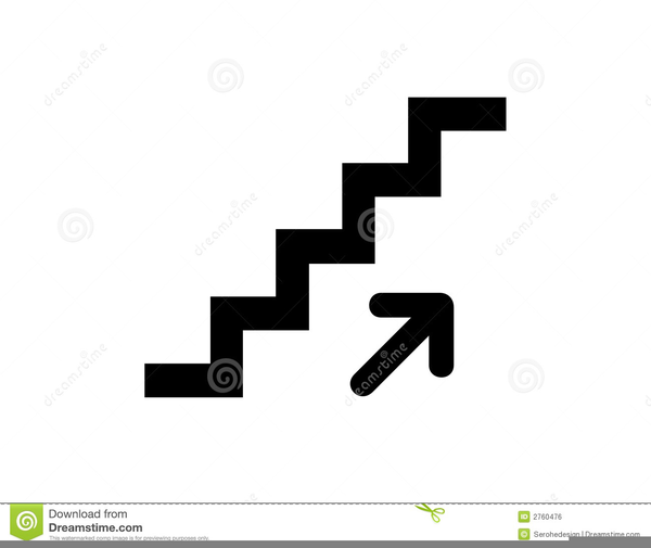 Free Clipart Stairs Black And White.