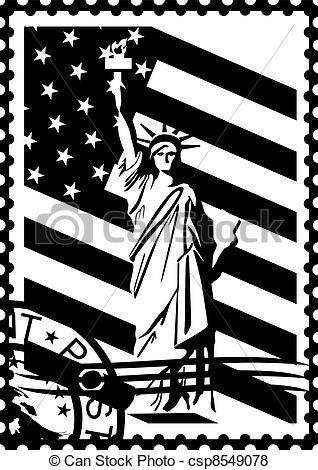 Stamp Clipart Black And White.