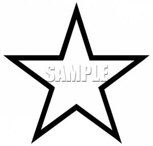 Star Clip Art Black And White.
