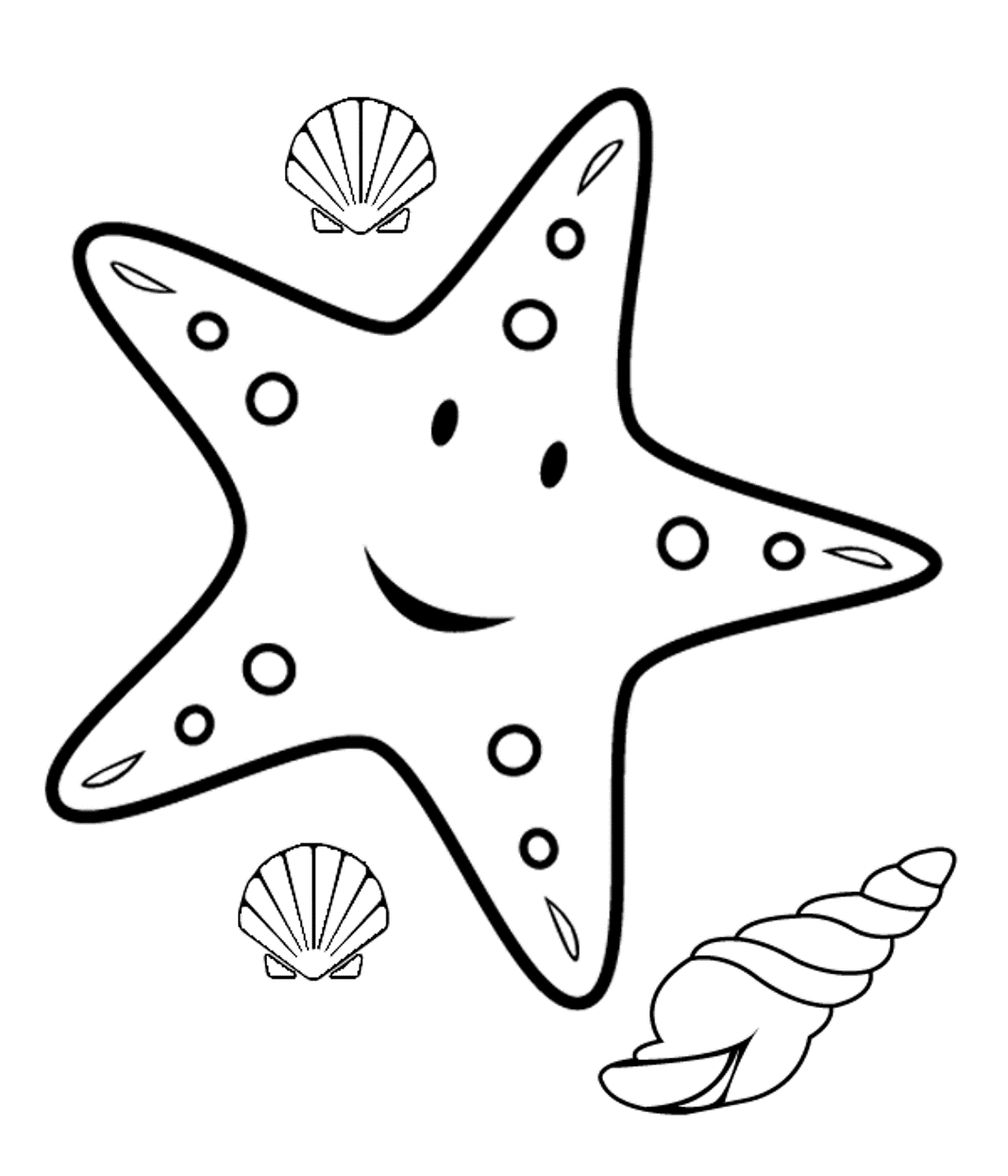 Starfish clipart black and white Fresh clipart black and.