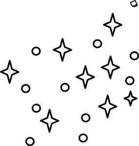 Stars Clipart Black And White Border.