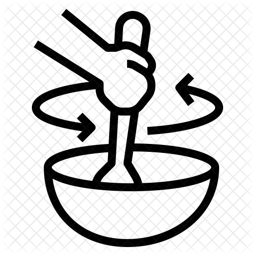 Stir food Icon.