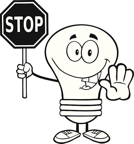 Stop Clipart Black And White.