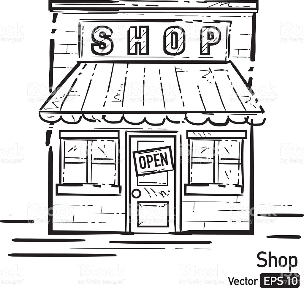 Shop clipart black and white 3 » Clipart Station.