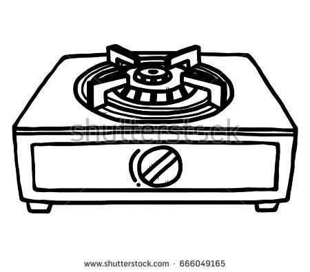 Stove Clipart Black And White.
