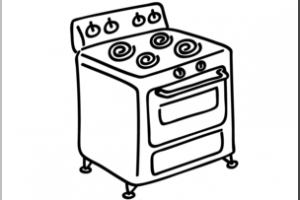 Stove clipart black and white » Clipart Station.