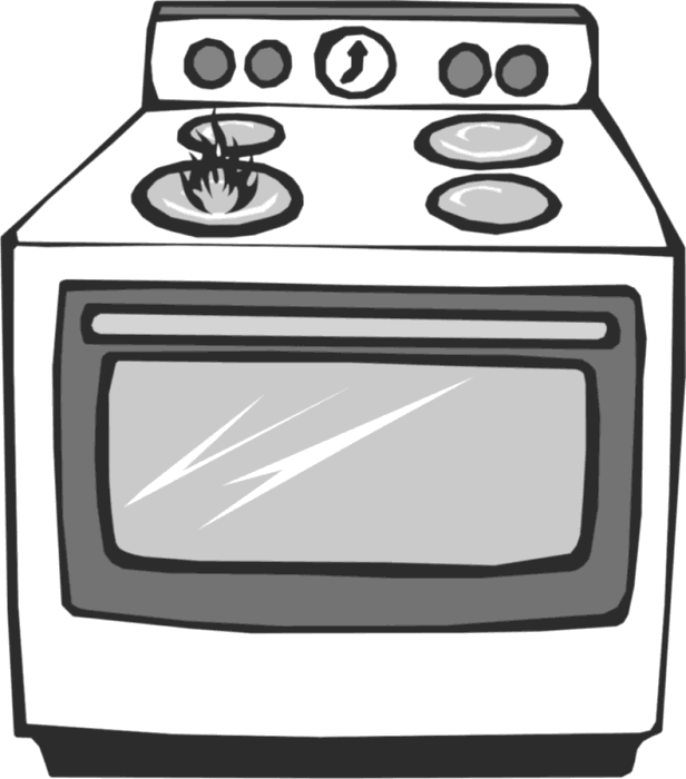 Free Stove Clipart Black And White, Download Free Clip Art.